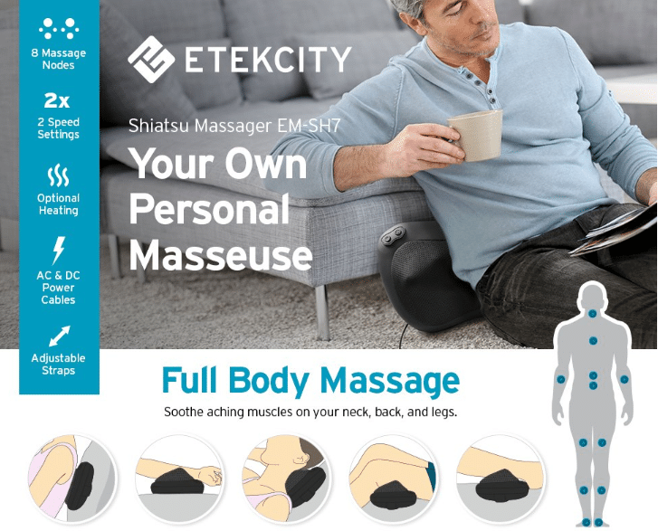 you will have improved circulation once you get your blood flowing from having tight spasming muscles with its 2 speeds and the nodes that reverse
