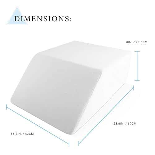 Pillow with dimensions
