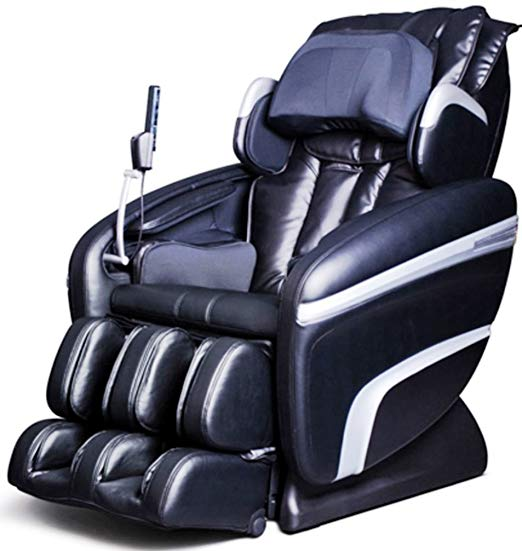 osaki massage chair Model OS-7200H Executive ZERO GRAVITY S-Track Heating Massage Chair, Black, Computer Body Scan, Arm Massage, Quad Roller Head Massage System, 51 Air Bag Massagers, MP3 & iPod Connection with Built-in Speakers