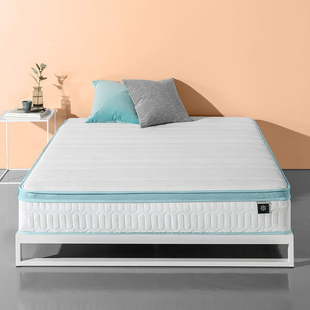 zinus mattress - Mint Green Memory Foam Hybrid Spring Mattress