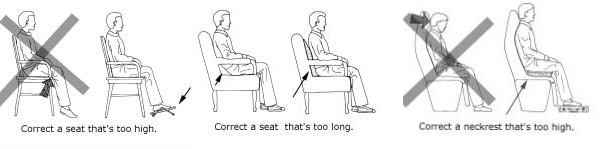 Fit seat cushiona nand lumber support for short people