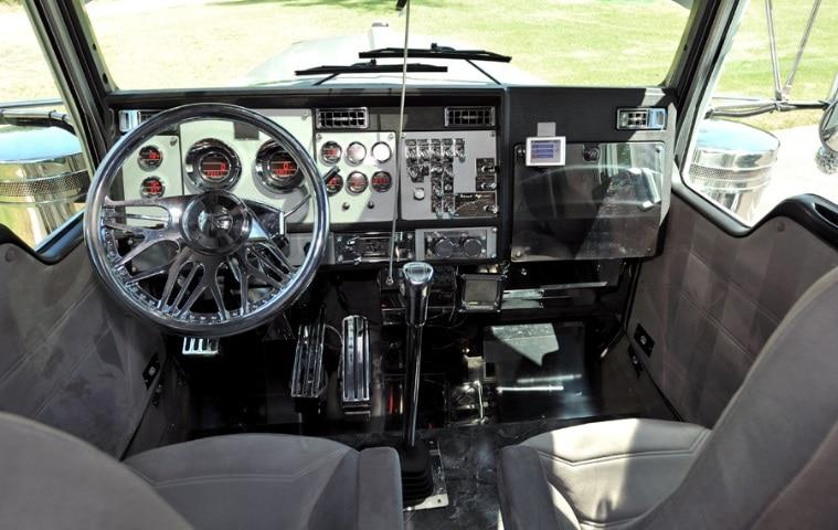 Inside Semi Truck