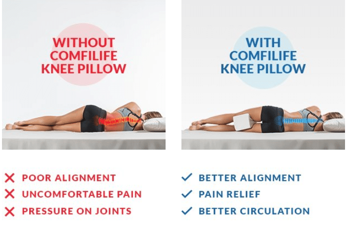 Best Knee Pillows For Back Leg Joint Hip Sciatica Pain