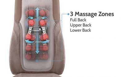 homedics massager Choose from three distinct massage styles with the Quad Shiatsu Pro Massage Cushion.