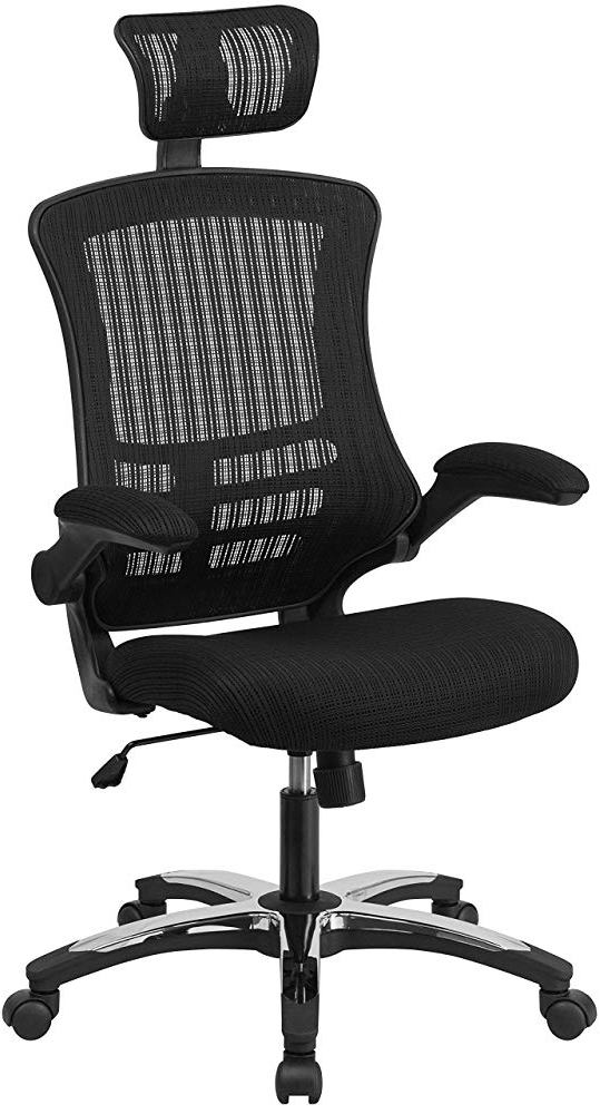 Flash Furniture High-Back Mesh Office Chair With Headrest
