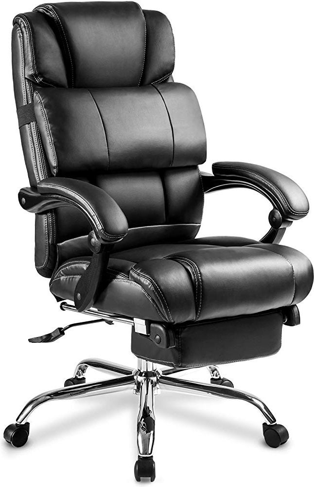 Merax® High-Back Leather Big Tall Executive Recliner Napping With Footrest