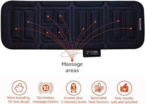 Belmint Home Sleek Home™ 10-Motor Massage Plush Massage Mat