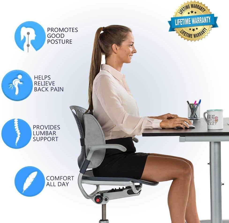 ComfiLife Memory Foam Lumbar Pillow