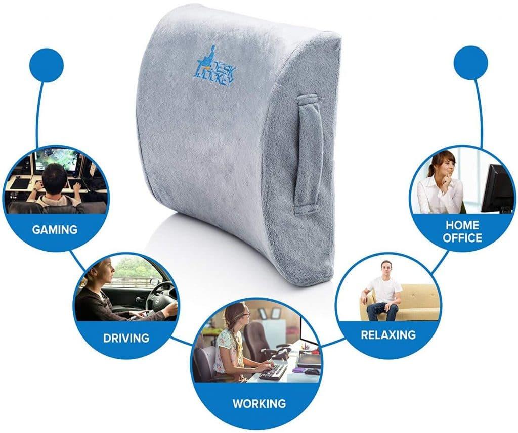 Desk Jockey™ Therapeutic Grade Lumbar Support Cushion