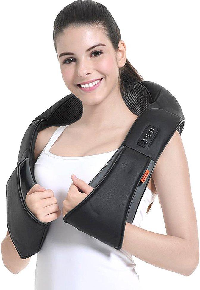 GESS® Kneading Shiatsu Neck, Waist, Back, Shoulder Infrared Heated Massager