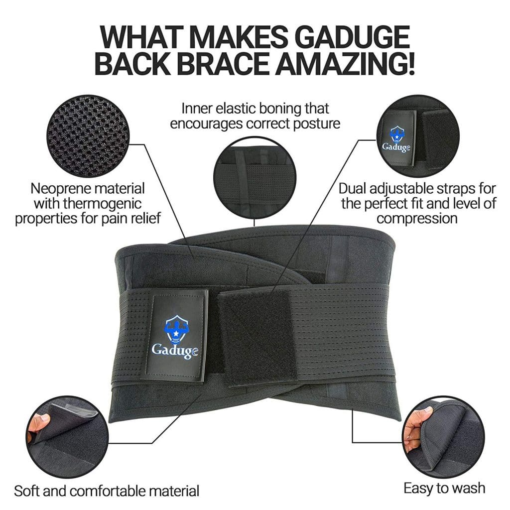 Gaduge Lower Back Brace And Support Belt