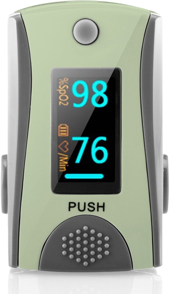 HealthTree Fingertip Pulse Oximeter Blood Oxygen Saturation Monitor With Bluetooth®