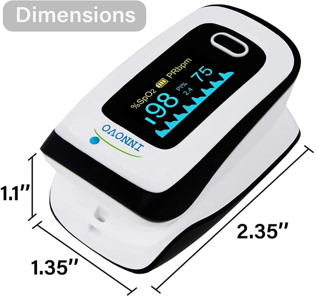 Innovo Deluxe Fingertip Pulse Oximeter Plethysmograph And Perfusion Index