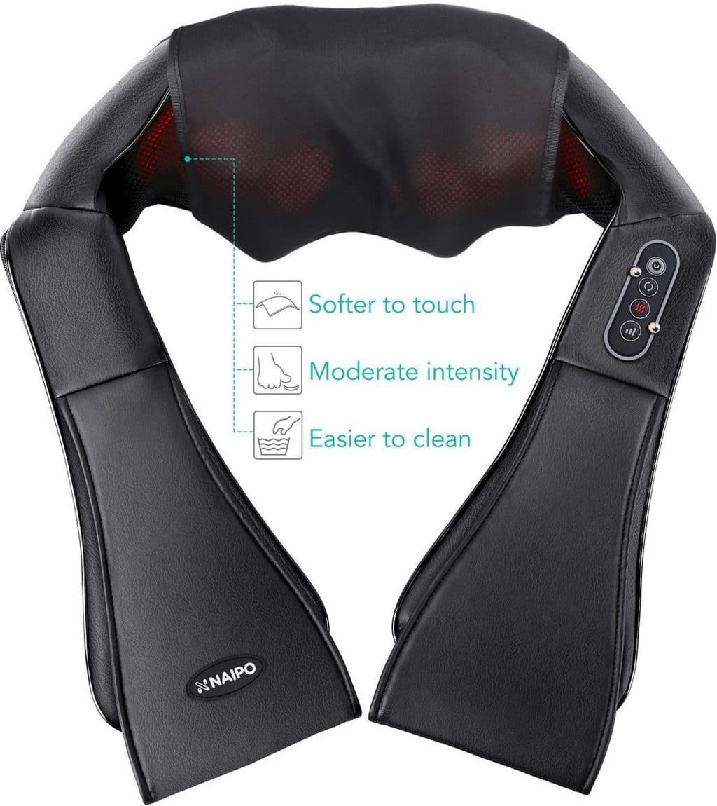 Naipo Shiatsu Kneading Neck And Shoulder Massager With Heat