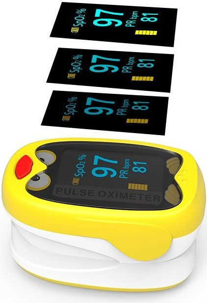 Yonker K1 Fingertip Pulse Oximeter Blood Oxygen Saturation Monitor For Infants & Kids