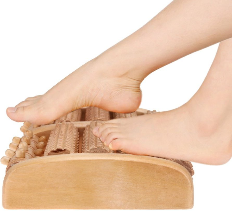 Sekmet™ Wooden Roller Foot Massager For Plantar Fasciitis