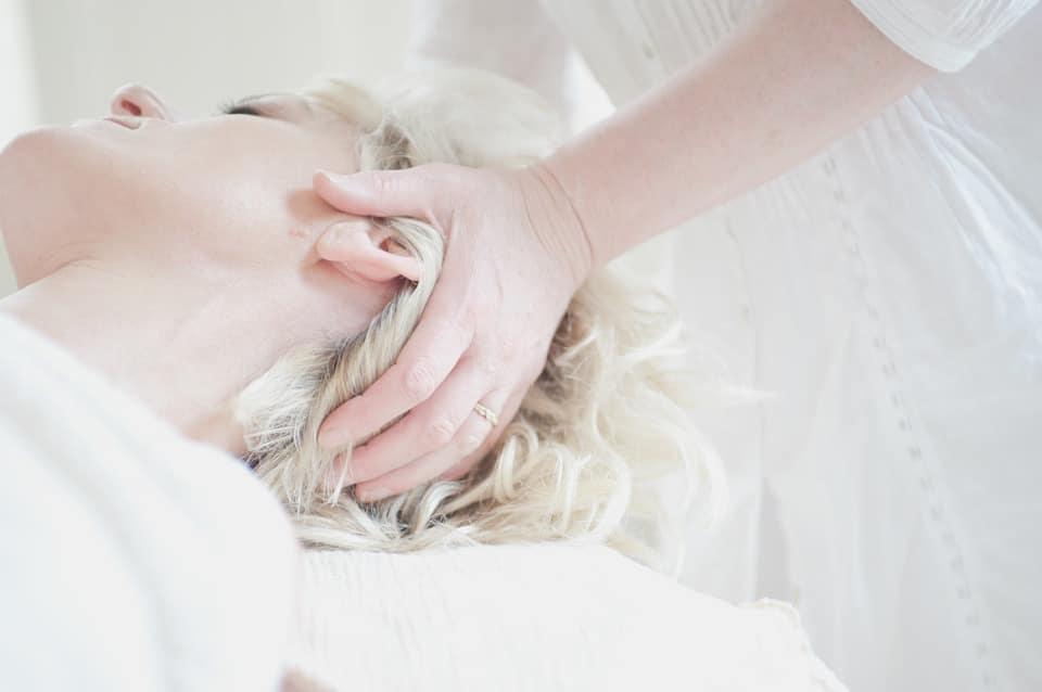 Hands on head, neck massage